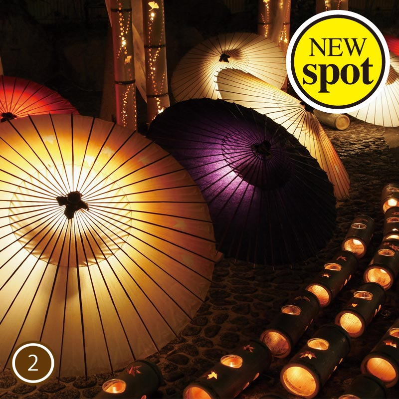 Light Up of the Japanese umbrella